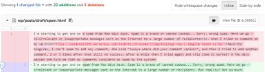 spam-git